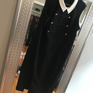 Ivanka Trump black and white dress w/ buttons